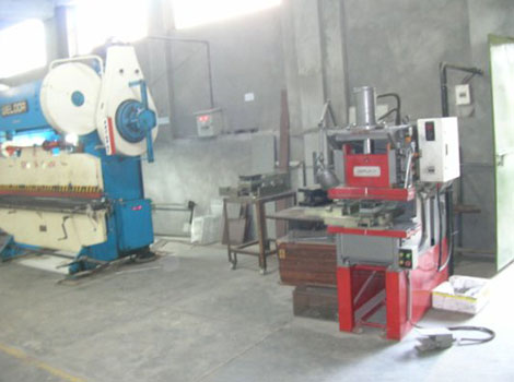 A view of MS sheet steel fabrication workshop
